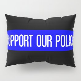 Support Our Police: Black U.S. Flag Pillow Sham