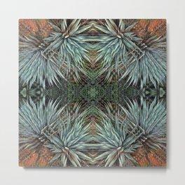 Sedona Arizona Fractal Agave Metal Print