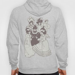 Vintage Ladies APRICOT / Vintage illustration redrawn and repurposed Hoody