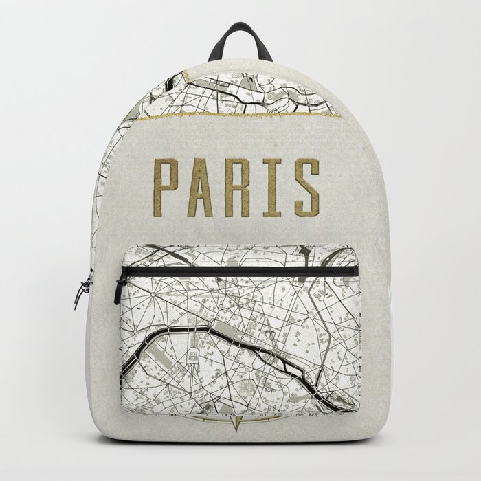 Paris Vintage Map And Location Backpack By Mapmaker Society6