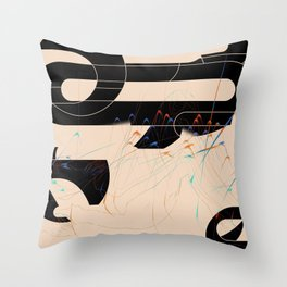 Burning From The Inside Throw Pillow