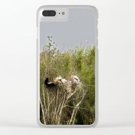 Anhinga Family Tree Clear iPhone Case