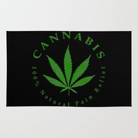 cannabis Area & Throw Rugs featuring Cannabis by PsychoBudgie