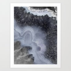 Winter Agate Art Print