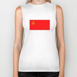 ussr cccp russia soviet union communist flag Biker Tank
