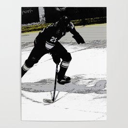 On the Move - Hockey Player Poster