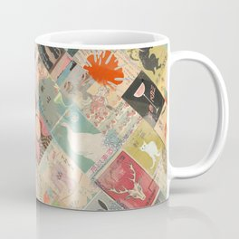 Vintage Japanese matchbox collage Coffee Mug