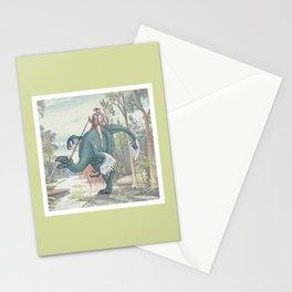 Castiel Pinup on a Dinosaur Stationery Cards
