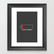 MNML-LIFE Framed Art Print