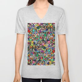 Rainbow Sprinkles - cupcake toppings galore Unisex V-Neck