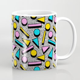 Dig It - memphis throwback retro neon cool rad pattern dorm college hipster neon squiggle abstract Coffee Mug