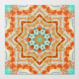 Orange kaleidoscope Star Canvas Print