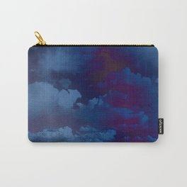 Clouds in a Stormy Blue Midnight Sky Carry-All Pouch