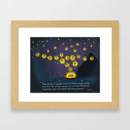 "Yogi Firefly-""Sharing Joy"" Framed Art Print"