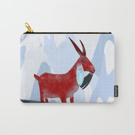Mountain Goat Design Carry-All Pouch