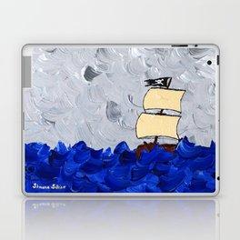 Pirate Ship On Stormy Seas in Acrylic Laptop & iPad Skin