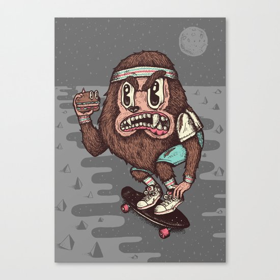 The Awesome Werewolf. Canvas Print