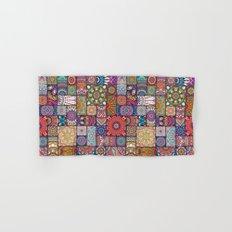 Boho Patchwork Quilt Pattern 2 Hand & Bath Towel
