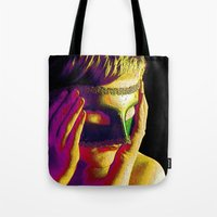 anonymous Tote Bags featuring Anonymous  by Dream Realm Photography and Art