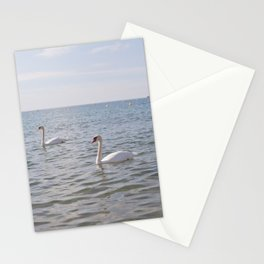 Riviera Swans Stationery Cards