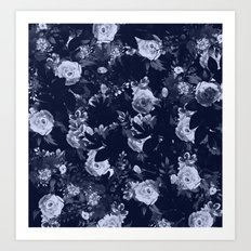 Night Botanical Garden II Art Print
