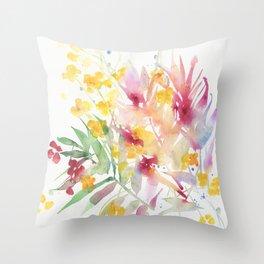 fiori I Throw Pillow