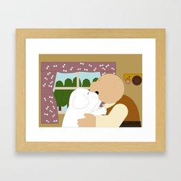 Good friend Framed Art Print