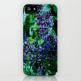Vintage Textured Painted Lilac iPhone Case