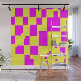Egg Yellow-Fuchsia City Scapes Abstract Wall Mural