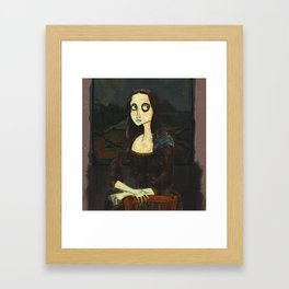 Mona Lisa (Tim Burton Stylized) Framed Art Print