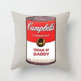 Cream Of Daddy Throw Pillow