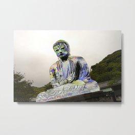 Lotus Glitch Metal Print