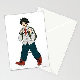 Deku walking to school Stationery Cards