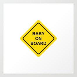 baby on board #society6 #decor #buyart #artprint Art Print