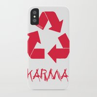 karma iPhone & iPod Cases featuring KARMA by ARTITECTURE