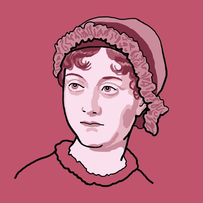 Jane Austen Red Pink Comforters