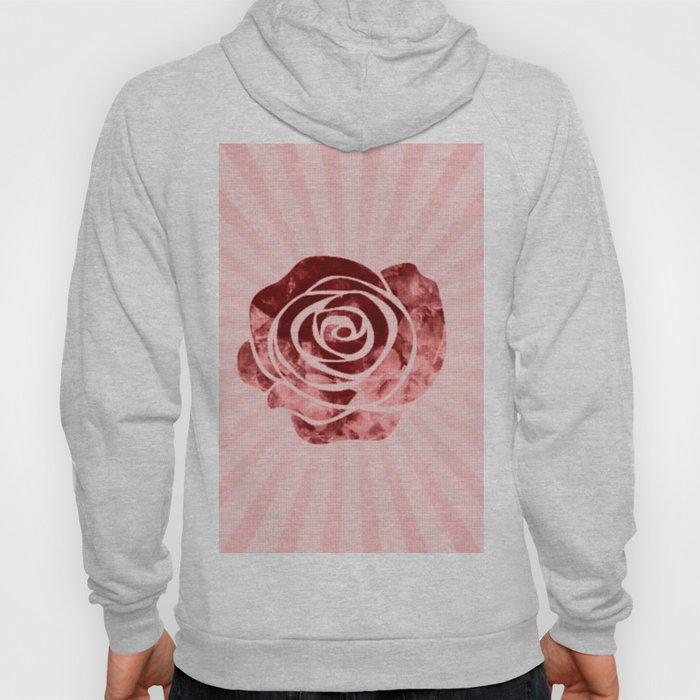 pink rose Hoody