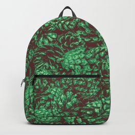 Scent of Pine RETRO GREEN / Photograph of pine cones Backpack