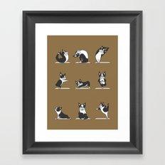 Boston Terriers Yoga Framed Art Print