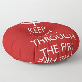 Walk through the fire Floor Pillow