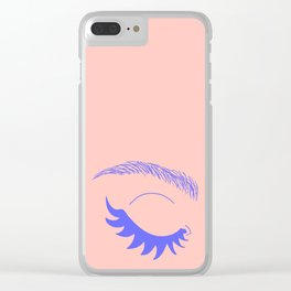Betty Gone Batty (Millennial Pink Edition) Clear iPhone Case