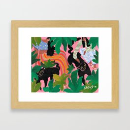 Wild friends Framed Art Print