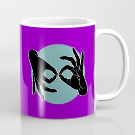 Sign Language (ASL) Interpreter – Black on Turquoise 06 Coffee Mug