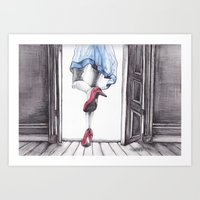 dorothy Art Prints featuring DOROTHY by Rachel E Murray