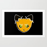 Doodle Fox Art Print