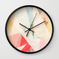 Wall Clocks featuring Vantage Point by Tracie Andrews