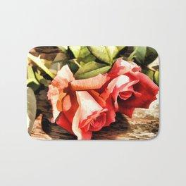 Timeless Tropicana Roses Bath Mat