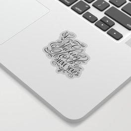 I fucking love you, calligraphy Sticker