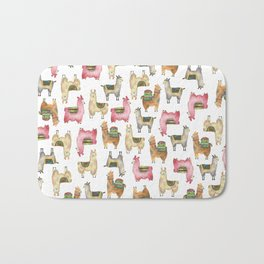 Llama love / Alpaca adventure wanderlust travel / animal baby nursery gift for her shower decor Bath Mat