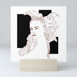 lady raven Mini Art Print